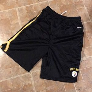 Reebok Steelers athletic shorts size kids boys XL